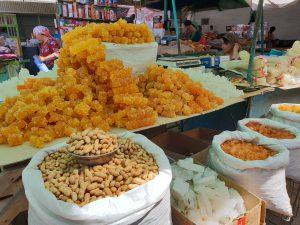 Sugar crystals in Osh Bazaar also known as Jayma Bazaar