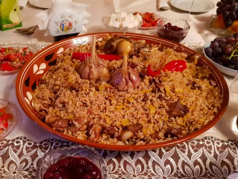 Osh plov cooked in plov cooking tour