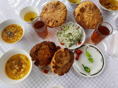 Tandyr samsa from food tour in Osh city