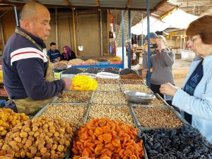 Dried fruits and nuts section of Osh Bazaar