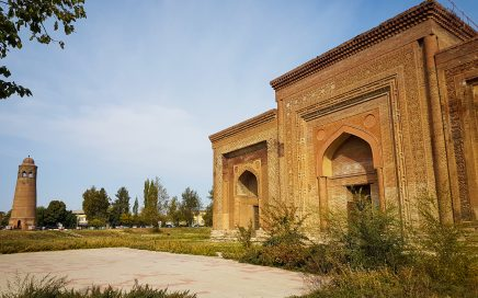 A day trip from Osh to the Medieval Archeological and Historical Complex of Uzgen town in the south of Kyrgyzstan