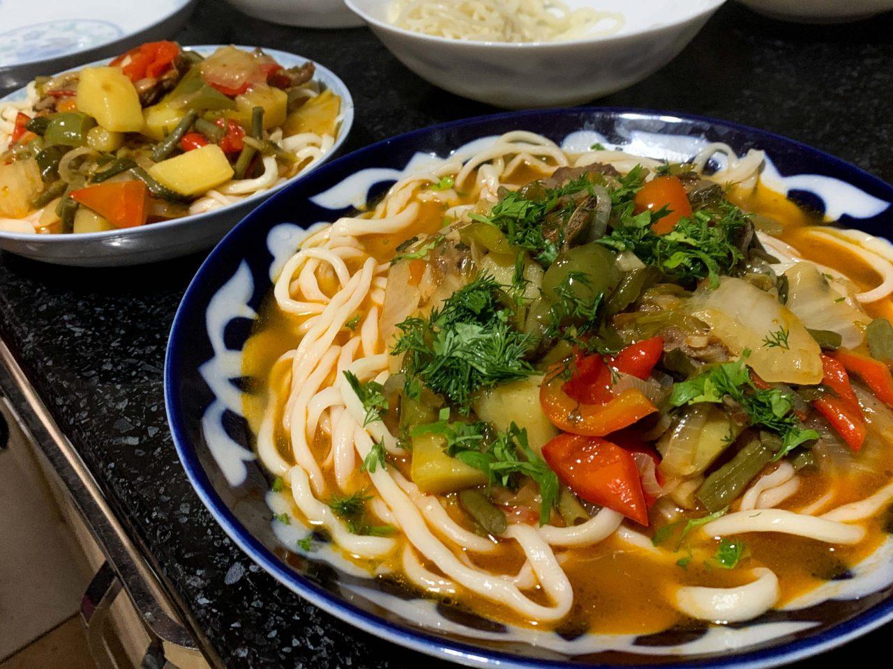 lagman central asian noodle dish