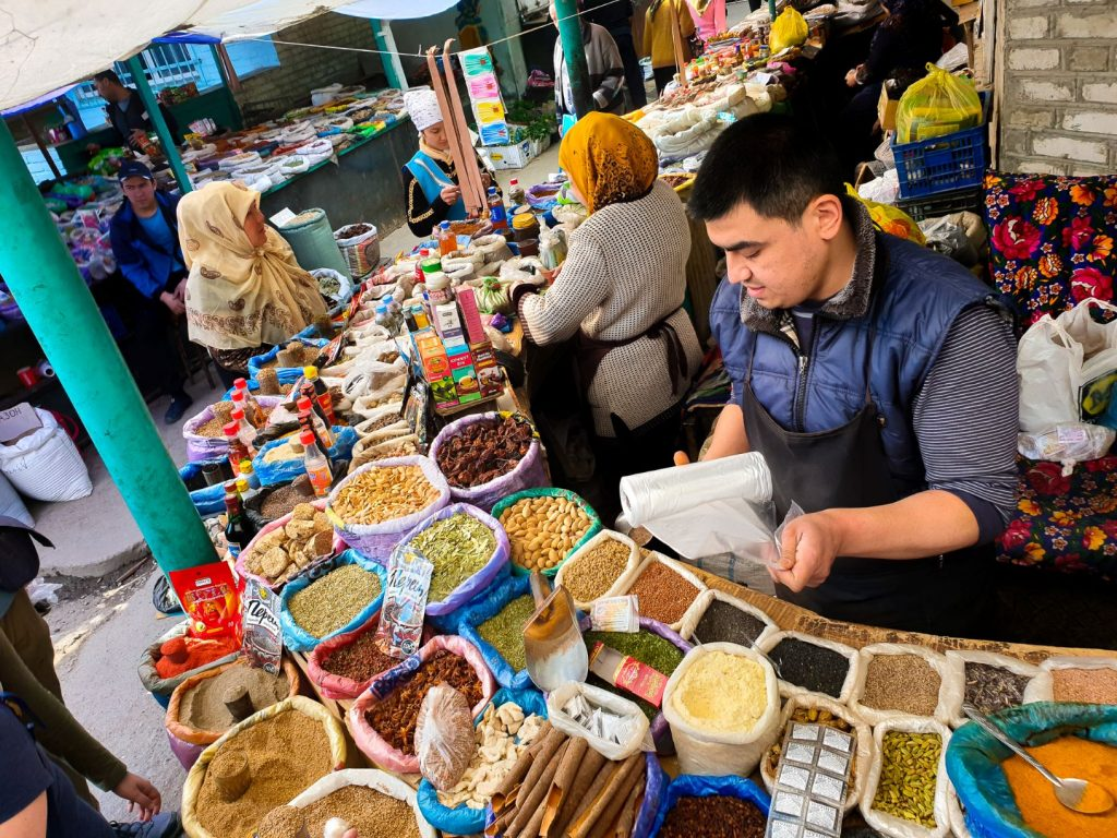 Spices section in Osh-bazaar