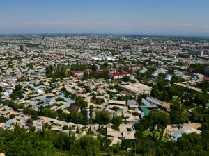 Among the top things to do in Osh is to see Osh from top of Sulaiman-Too