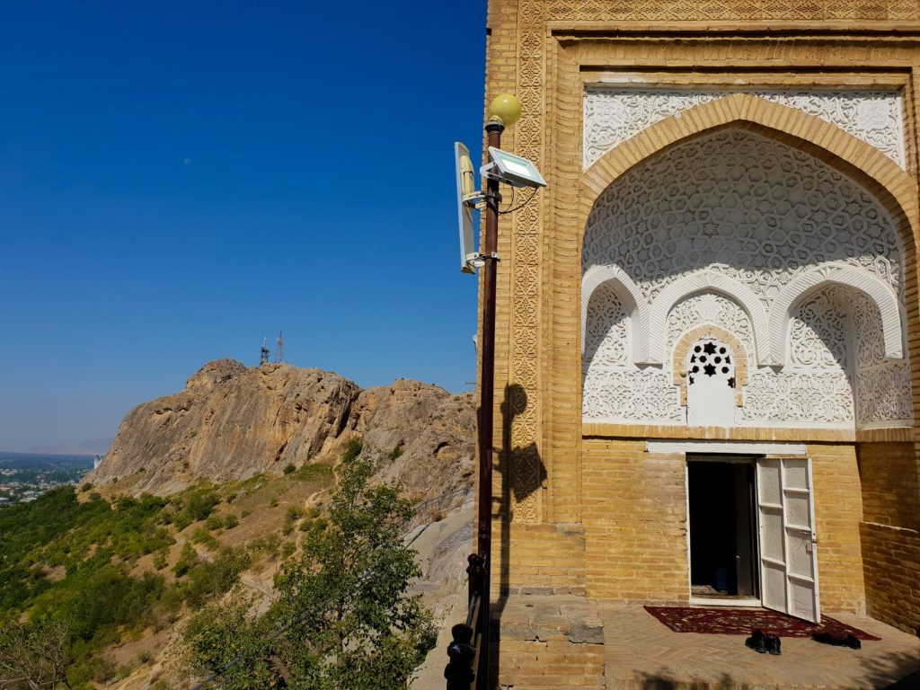 Babur's House on top of Sulaiman-Too Mountain is a must-do sightseeing in Osh